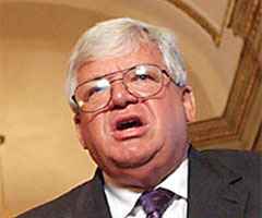 House Speaker Dennis Hastert, co-sponsor of the IM Clean Act