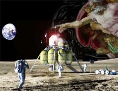 First faith-based NASA moon mission (artist's conception)
