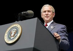 President Bush at the 2008 State of the Union: Mum's the word