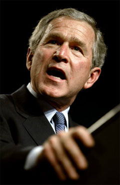 President Bush touts his No Plan Plan in support of 2008 GOP candidates