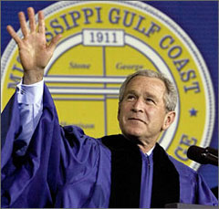 President George W. Bush: slightly shorter, slightly fatter following divine intervention